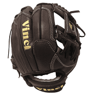 Vinci's Optimus JV is an 11.5 inch infield / pitcher glove that combines functionality and style for a glove that looks great and kills on the field. Versatile enough to be used for both pitcher and infield positions, the rolled leather welting and the high quality 6.5 oz. kip leather will ensure you get noticed for your glove as well as for winning. Tested gruelingly over two years, the leather is made to play hard and last even with constant use.