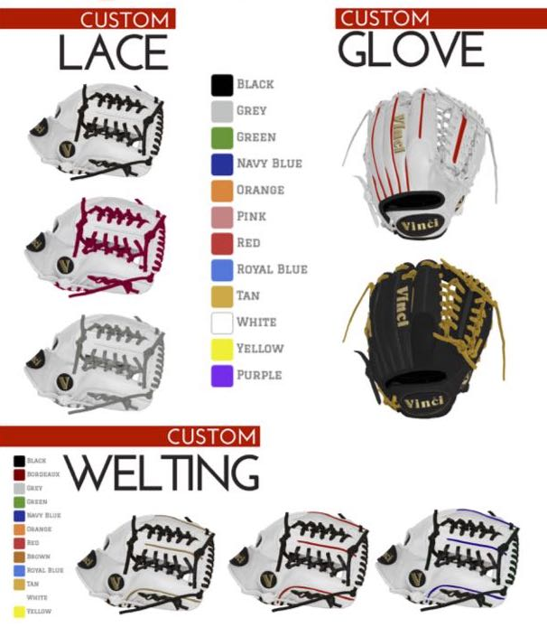 Semi Custom Glove Options
